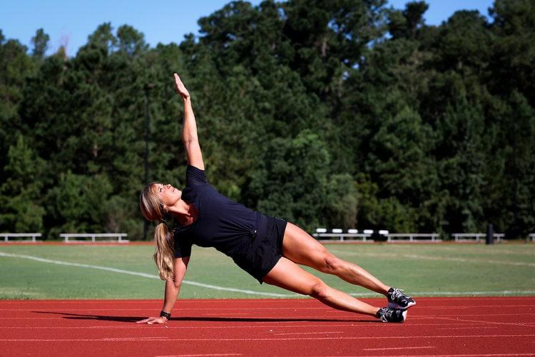 Christie Nix Side Plank