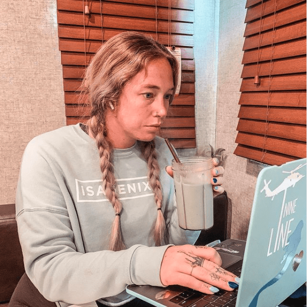 Megan At Desk