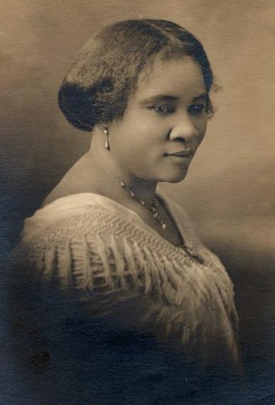 Madam CJ Walker Face Circa 1914